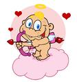 Happy Baby Cupid vector image