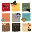 halloween sticky note vector image