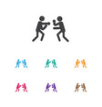 of lifestyle symbol on boxing vector image