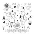 Romantic wedding collection vector image
