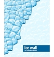 Ice wall vector image vector image
