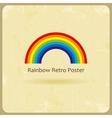Abstract retro rainbow background vector image