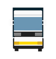 cargo truck isolated icon vector image