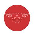 Christian cross icon vector image