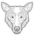 doodle hand-drawn wolf vector image