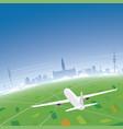 hamburg skyline flight destination vector image