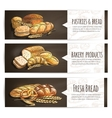 Bakery fresh bread and pastries poster vector image