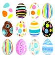 3D easter eggs set with shadows vector image vector image