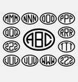 set 2 of templates from three capital letters vector image