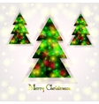 Christmas tree on an abstract background vector image vector image