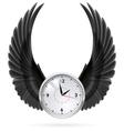 Black wings Clock vector image