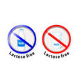lactose free vector image vector image