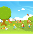 Kids Playing At PArk vector image