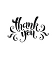thank you ink vector image