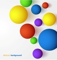 Abstract 3D colorful spheric background vector image