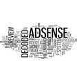 Adsense decoded review good or bad text word vector image
