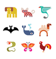 animal icon set 9 vector image