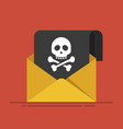concept of sending spam and virus hacker attack vector image