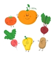 Cute funny vegetables set vector image