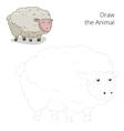Draw the animal sheep educational game vector image