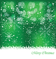 Merry Christmas for you background vector image