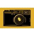 Luxury golden photo camera vector image vector image