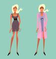 Cute fashion girls vector image