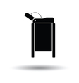 Baby swaddle table icon vector image