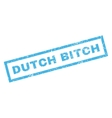 Dutch Bitch Rubber Stamp vector image