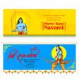 lord rama with bow arrow in ram navami vector image
