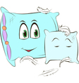 Two pillows on a white background vector image vector image