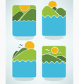 nature emblems vector image vector image