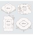 Set vintage ornamental frame labels vector image