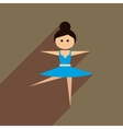 Flat web icon with long shadow ballet dancer vector image