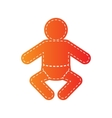 Baby sign  Orange applique isolated vector image