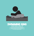 Black Symbol Swimming Ring vector image