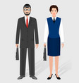 business people concept couple of jewish vector image