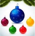 Christmas colorful balls vector image