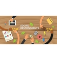 customer business social responsibility concept vector image
