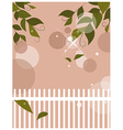 Garden Fence Background vector image