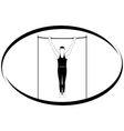 Gymnastics on the crossbar vector image