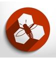 honey cells web icon vector image