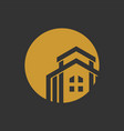 luxury residence gold circular icon vector image