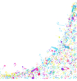 Multicolor Musical Design vector image