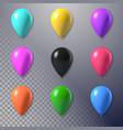 photorealistic air balloon set vector image