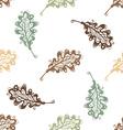 Seamless pattern of vintage oak leaves vector image