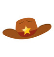 sheriff hat with star badge vector image