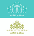 trees and parks logo design elements vector image