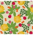 Seamless garden background vector image