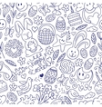 Easter - seamless pattern vector image